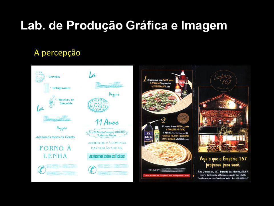 Direção de Arte - Conhecimentos Manipulação de imagens digitais Lab. de Produção Gráfica e Imagem