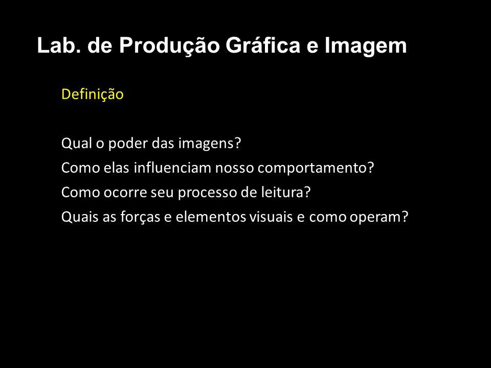 Definição Qual o poder das imagens? Como elas influenciam nosso comportamento? Como ocorre seu processo de leitura? Quais as forças e elementos visuai