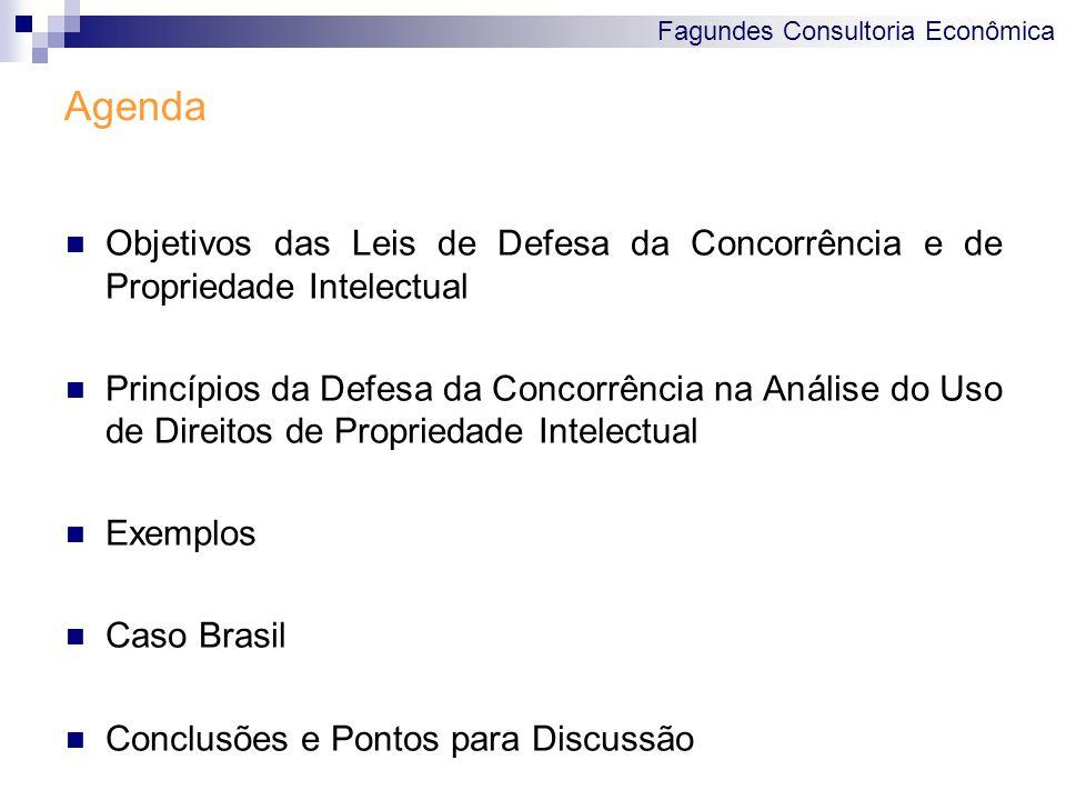 Fagundes Consultoria Econômica Objetivos das Leis de Defesa da Concorrência e de Propriedade Intelectual Princípios da Defesa da Concorrência na Análi
