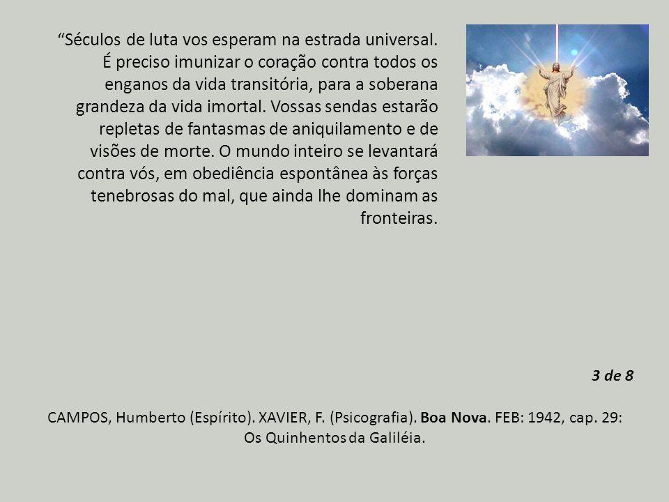 CAMPOS, Humberto (Espírito).XAVIER, F. (Psicografia).