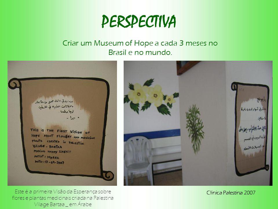 PERSPECTIVA Criar um Museum of Hope a cada 3 meses no Brasil e no mundo.