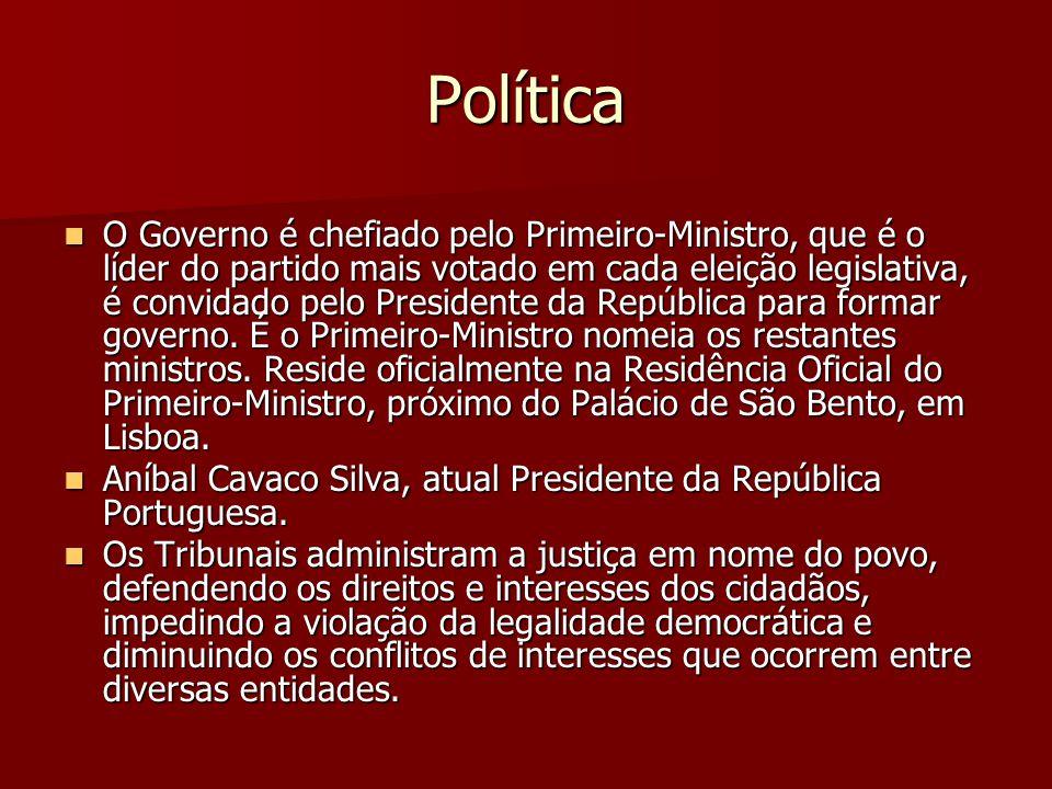 Política O Governo é chefiado pelo Primeiro-Ministro, que é o líder do partido mais votado em cada eleição legislativa, é convidado pelo Presidente da