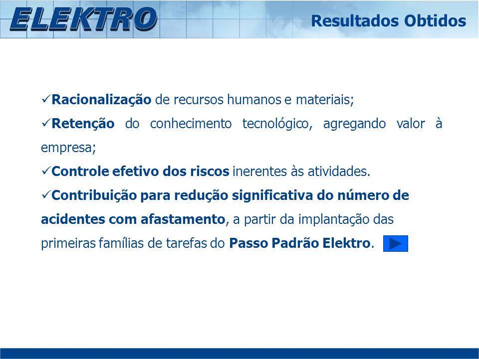 Racionalização de recursos humanos e materiais; Retenção do conhecimento tecnológico, agregando valor à empresa; Controle efetivo dos riscos inerentes