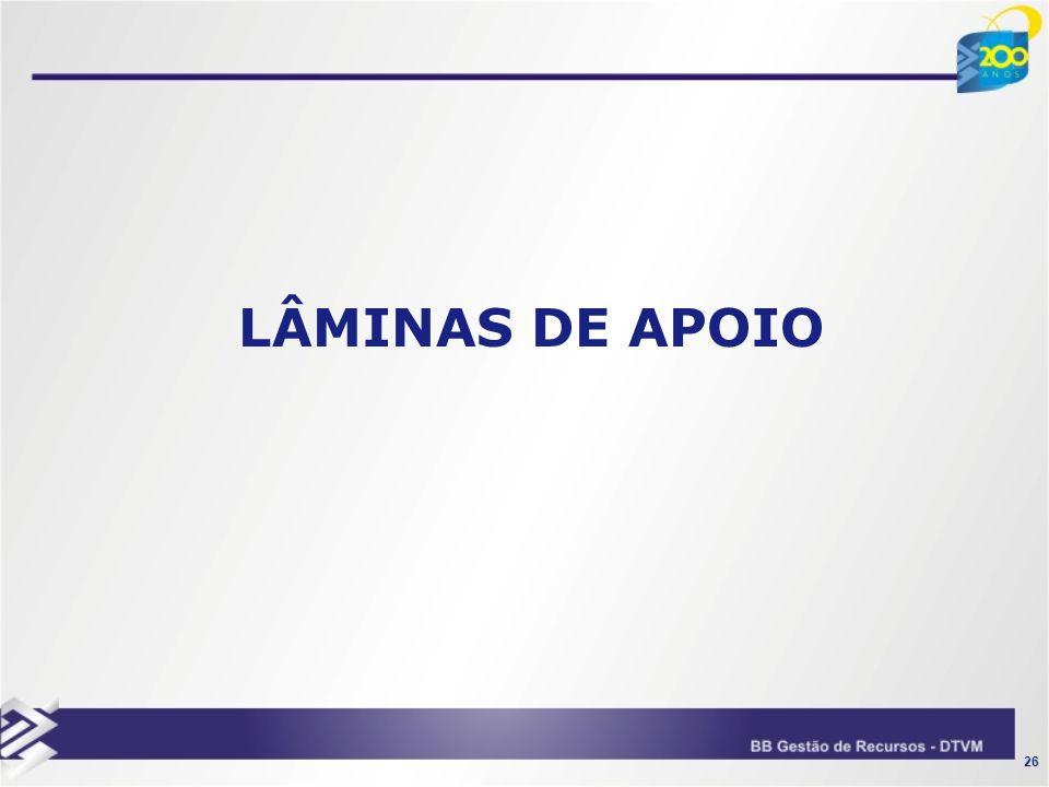 26 LÂMINAS DE APOIO