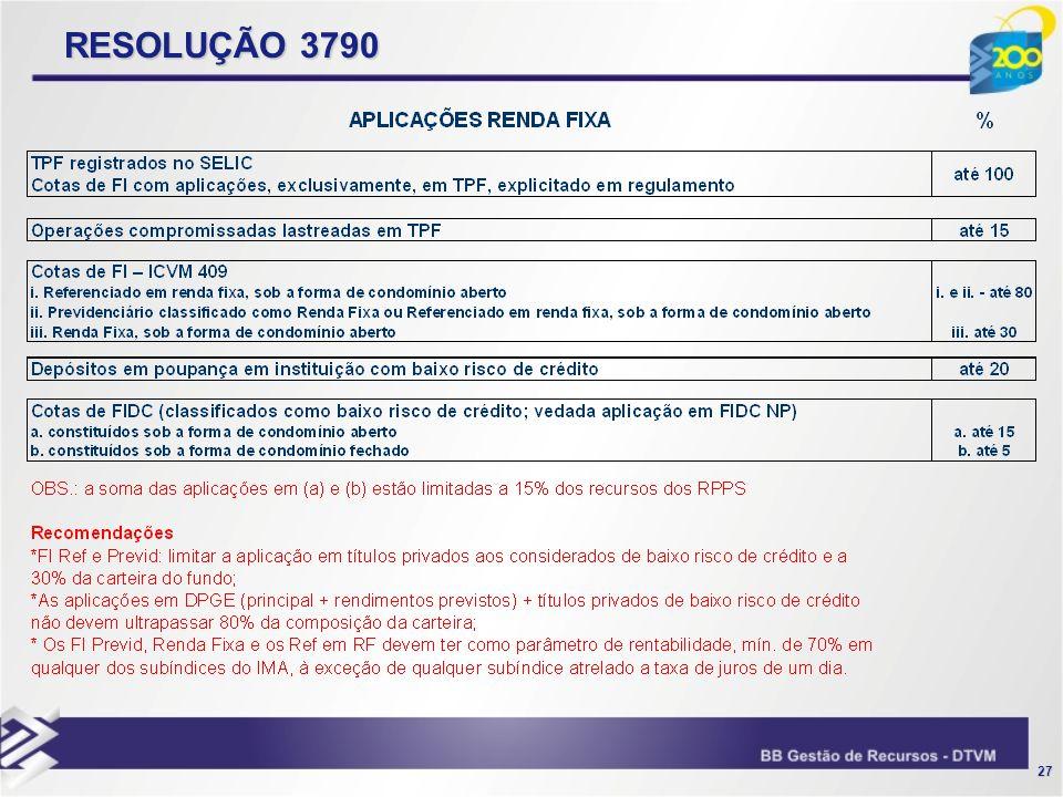 27 RESOLUÇÃO 3790