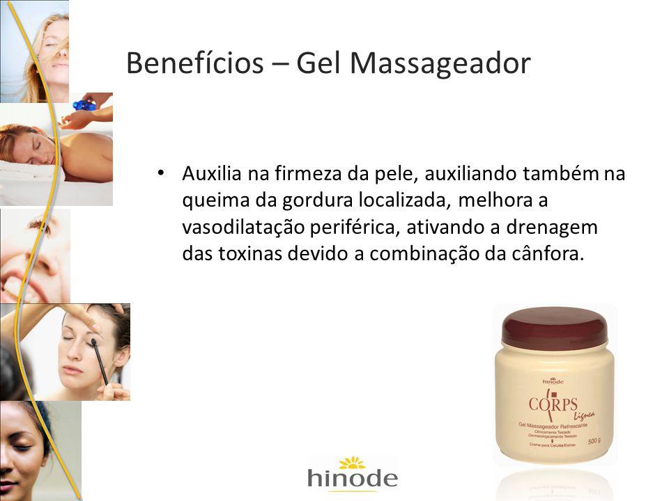Auxilia na firmeza da pele, auxiliando também na queima da gordura localizada, melhora a vasodilatação periférica, ativando a drenagem das toxinas dev