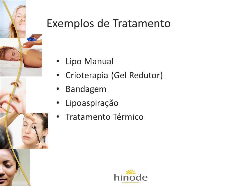 Lipo Manual Crioterapia (Gel Redutor) Bandagem Lipoaspiração Tratamento Térmico Exemplos de Tratamento