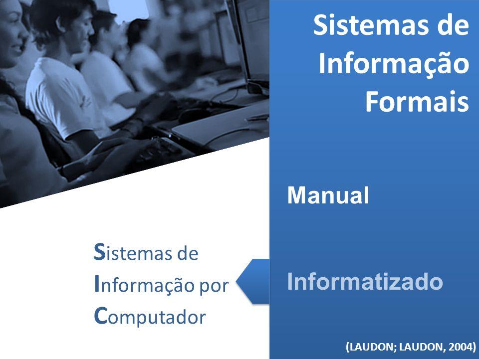 (MELO, 2006) Sistemas de Informação Formais Manual Informatizado (LAUDON; LAUDON, 2004) S istemas de I nformação por C omputador