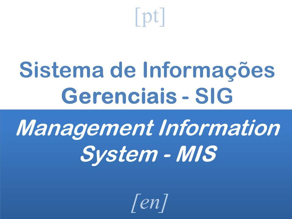 Sistema de Informações Gerenciais - SIG [pt] [en] Management Information System - MIS