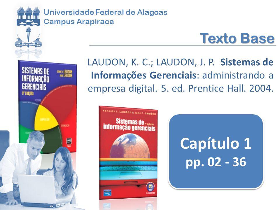 Dado Informação Conhecimento Informação Dados apresentados de forma significativa e útil para os seres humanos (LAUDON; LAUDON, 2004)