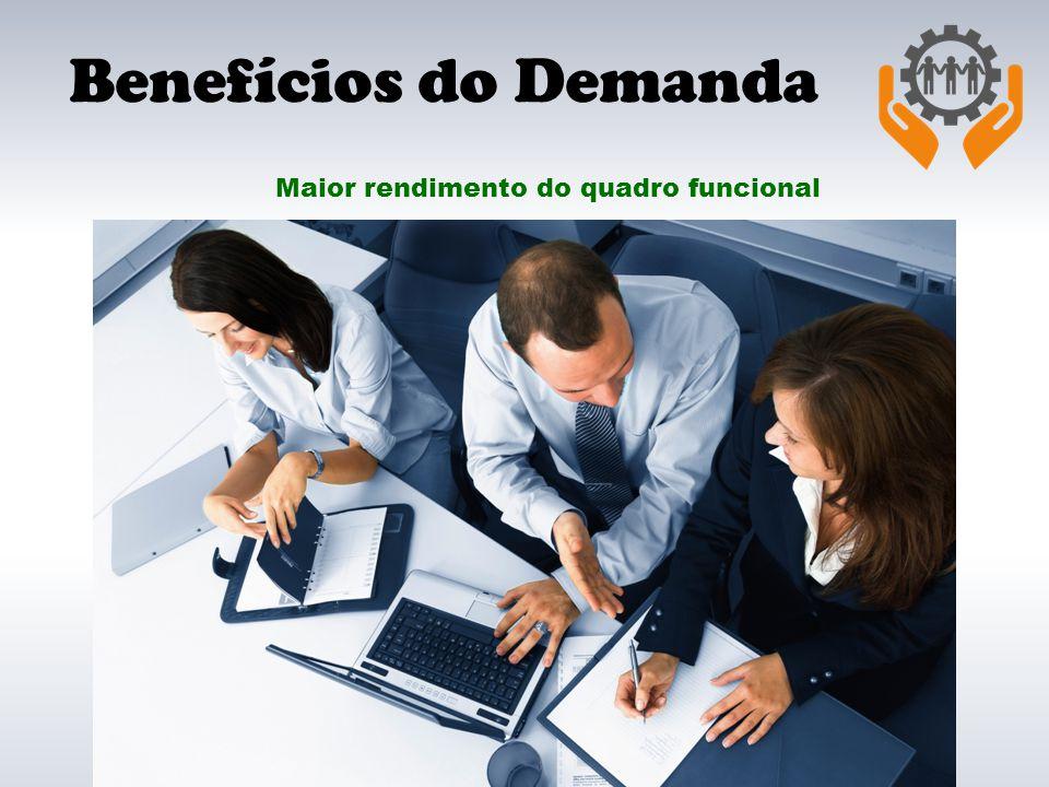 Benefícios do Demanda Maior rendimento do quadro funcional