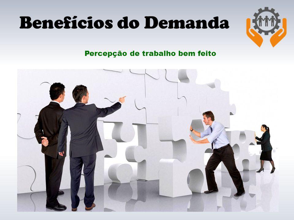 Benefícios do Demanda Percepção de trabalho bem feito
