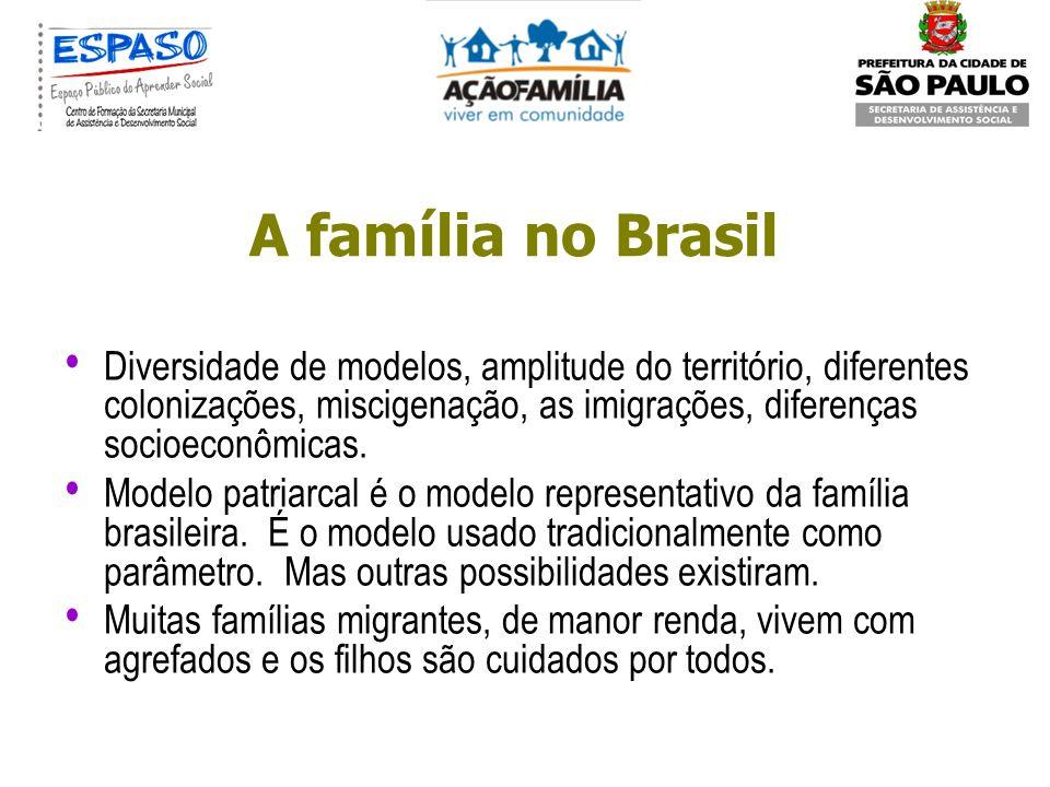 Pesquisa de 97 com famílias de classe média de São Paulo mostrou o casamento como uma forte instituição, marido visto como provedor e mulher como ampa