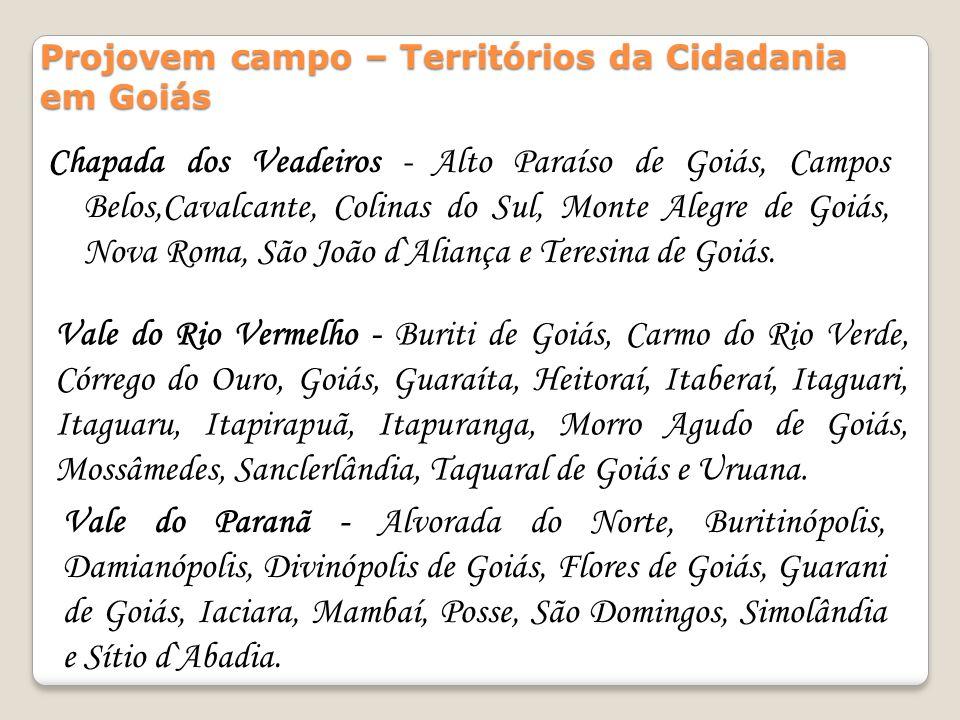 Vale do Rio Vermelho - Buriti de Goiás, Carmo do Rio Verde, Córrego do Ouro, Goiás, Guaraíta, Heitoraí, Itaberaí, Itaguari, Itaguaru, Itapirapuã, Itap