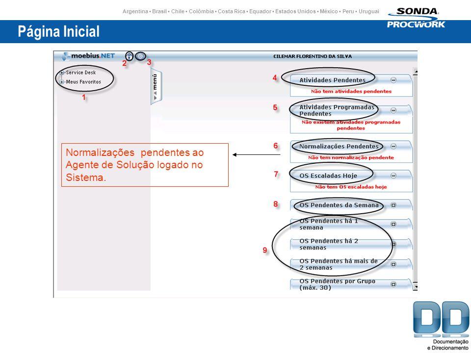 Argentina Brasil Chile Colômbia Costa Rica Equador Estados Unidos México Peru Uruguai Página Inicial Normalizações pendentes ao Agente de Solução logado no Sistema.
