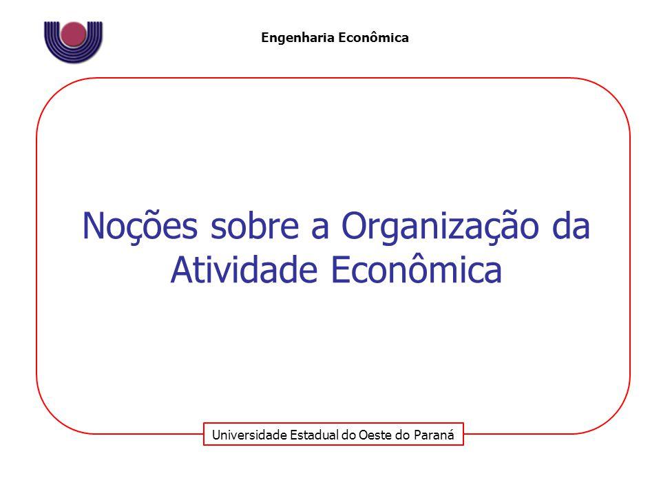 Universidade Estadual do Oeste do Paraná Engenharia Econômica Mercado Um mercado é um grupo de compradores e vendedores que interagem entre si, resultando na possibilidade de trocas.