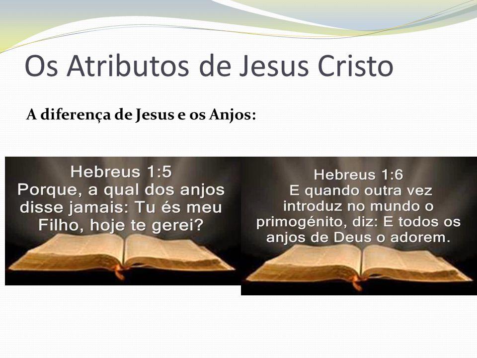Os Atributos de Jesus Cristo A diferença de Jesus e os Anjos: