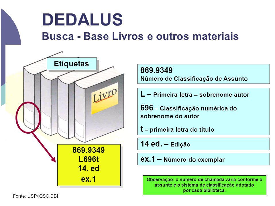 DEDALUS Busca - Base Livros e outros materiais Etiquetas 869.9349 L696t 14. ed ex.1 869.9349 L696t 14. ed ex.1 869.9349 Número de Classificação de Ass
