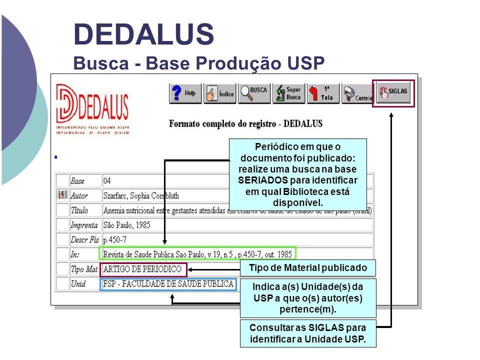 DEDALUS Busca - Base Produção USP Indica a(s) Unidade(s) da USP a que o(s) autor(es) pertence(m). Periódico em que o documento foi publicado: realize