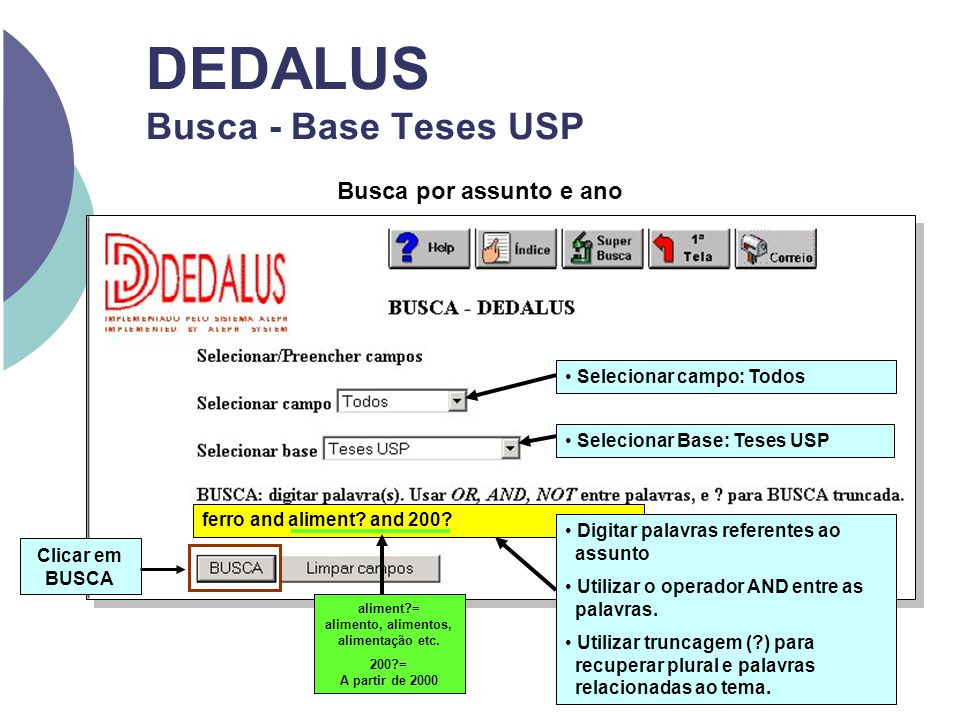 DEDALUS Busca - Base Teses USP ferro and aliment.and 200.