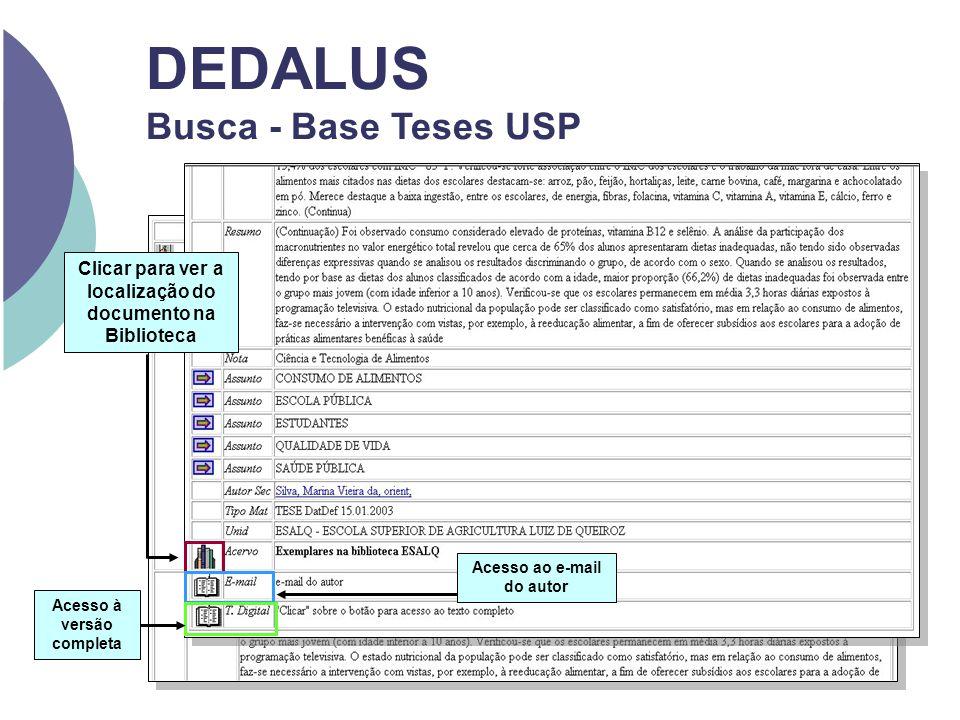 DEDALUS Busca - Base Teses USP Acesso ao e-mail do autor Clicar para ver a localização do documento na Biblioteca Acesso à versão completa
