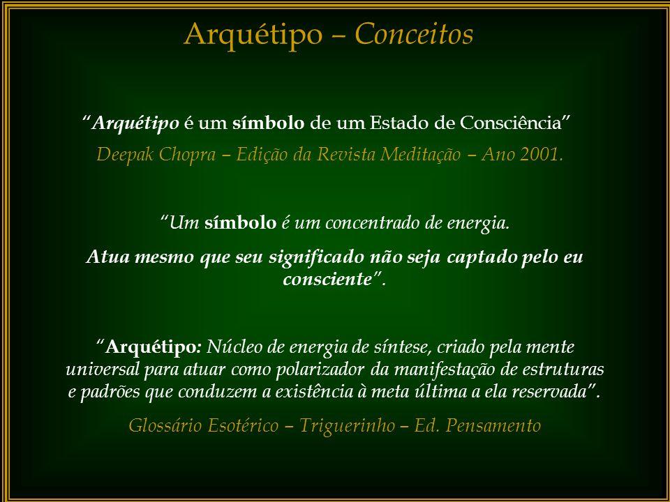 Arquétipos A ativação desse elo de ligação, no plano consciente, nos aproxima do sentido de unicidade. Isso nos remete à descoberta da possibilidade d