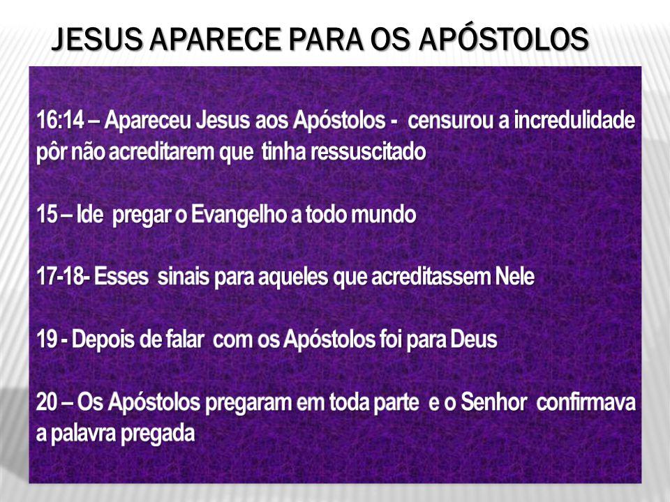 JESUS APARECE PARA OS APÓSTOLOS