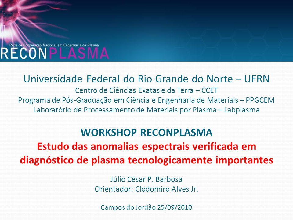 Universidade Federal do Rio Grande do Norte – UFRN Centro de Ciências Exatas e da Terra – CCET Programa de Pós-Graduação em Ciência e Engenharia de Ma