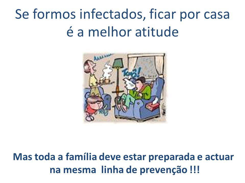 Se formos infectados, ficar por casa é a melhor atitude Mas toda a família deve estar preparada e actuar na mesma linha de prevenção !!!