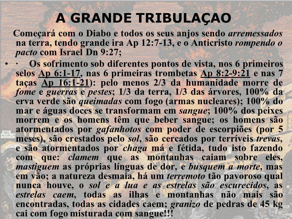 Começará com o Diabo e todos os seus anjos sendo arremessados na terra, tendo grande ira Ap 12:7-13, e o Anticristo rompendo o pacto com Israel Dn 9:2