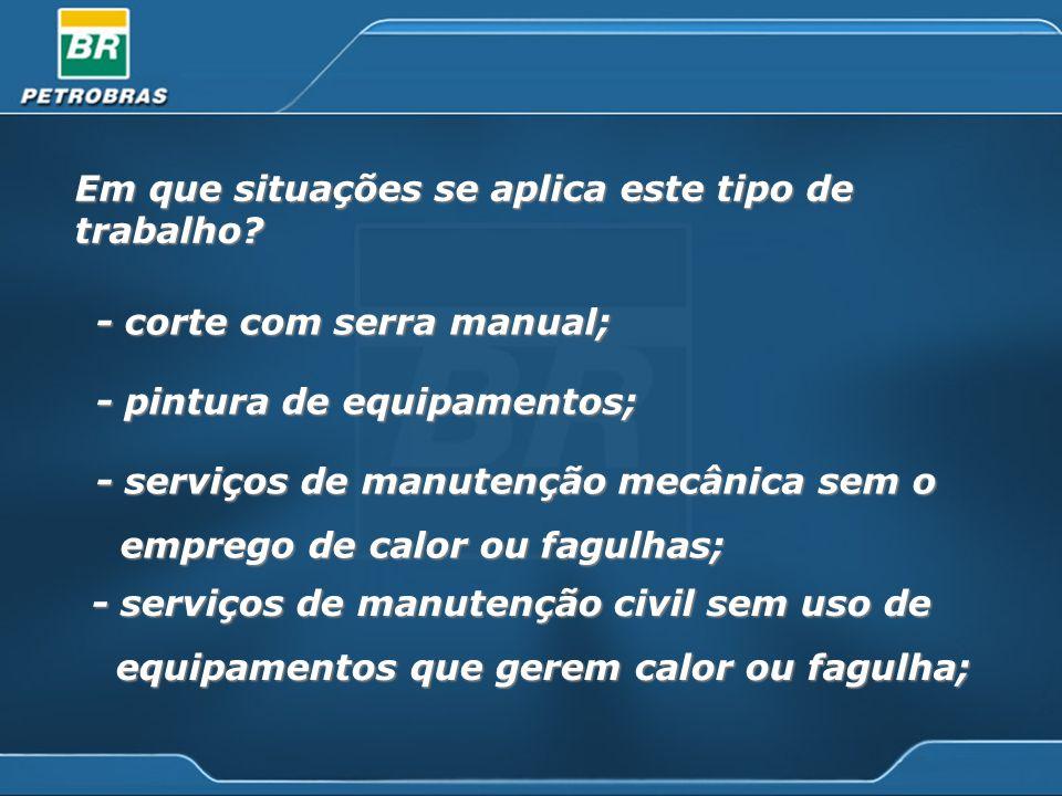 Condições específicas Proteção na instalação dos equipamentos de solda e corte a arco elétrico.