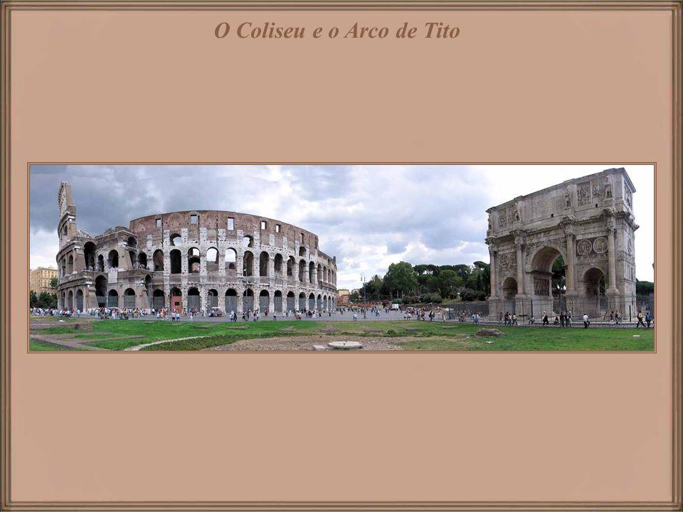 Vista desde o Altare della Patria – monumento nacional a Victor Emmanuel II. Roma e suas igrejas