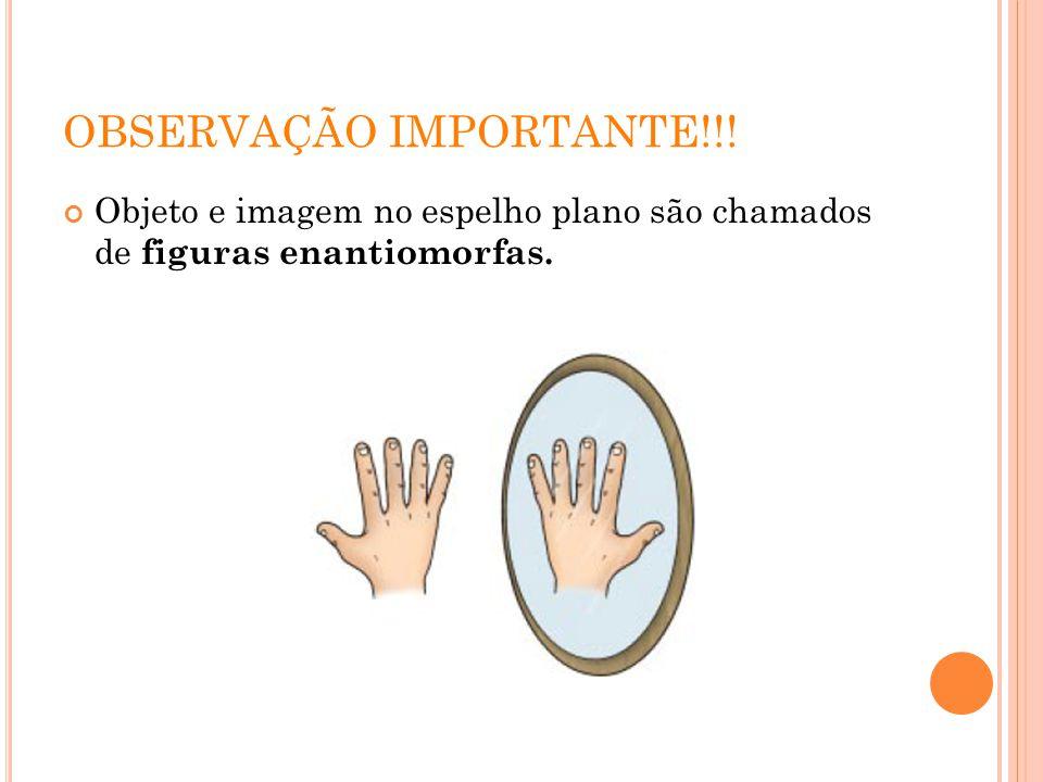 TRANSLAÇÃO DE UM ESPELHO PLANO Consideremos um caso de translação de um espelho plano.