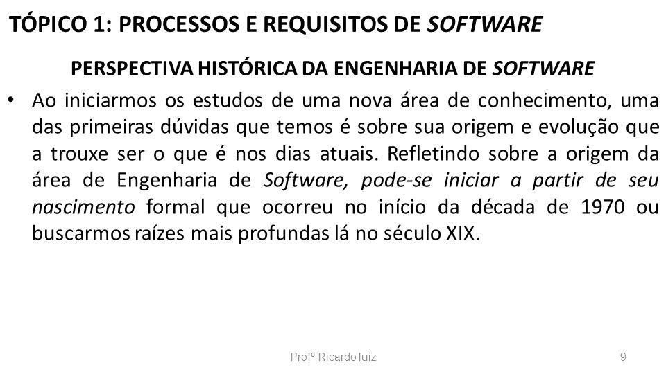 TÓPICO 2: PROCESSOS DE SOFTWARE A criação de um software é uma atividade intelectual de alto nível de complexidade.