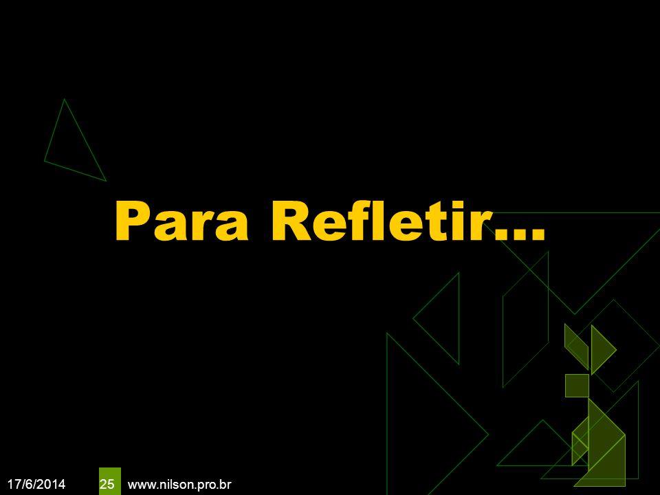 17/6/2014 25 Para Refletir... www.nilson.pro.br