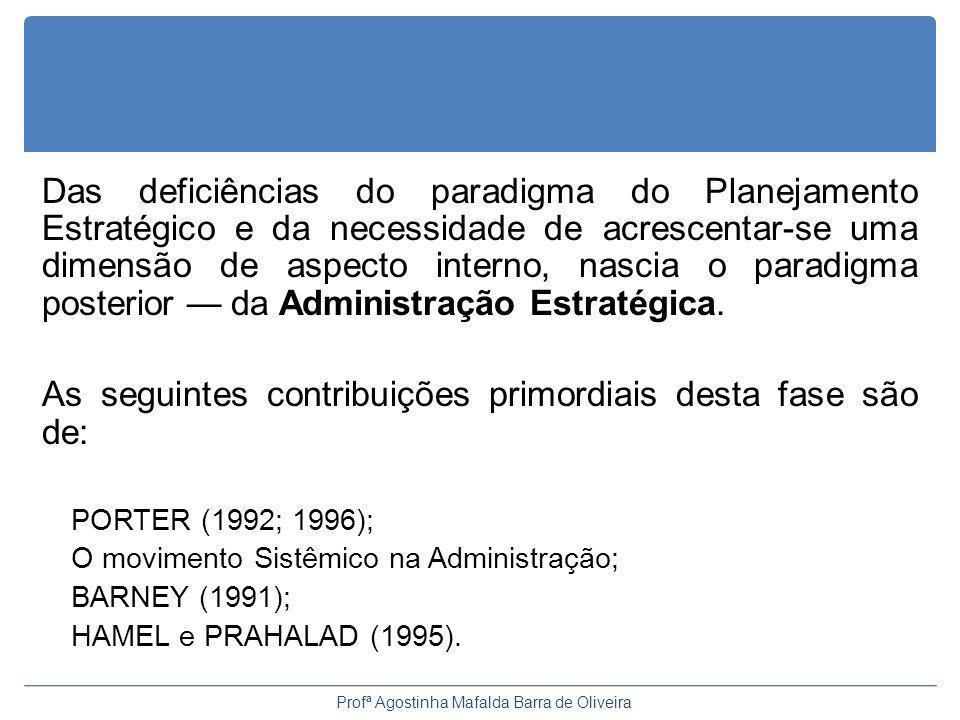 O que é estratégia? Profª Agostinha Mafalda Barra de Oliveira