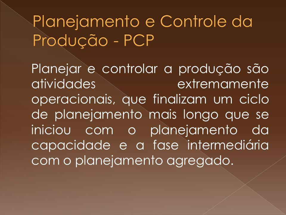 Planejar e controlar a produção são atividades extremamente operacionais, que finalizam um ciclo de planejamento mais longo que se iniciou com o plane