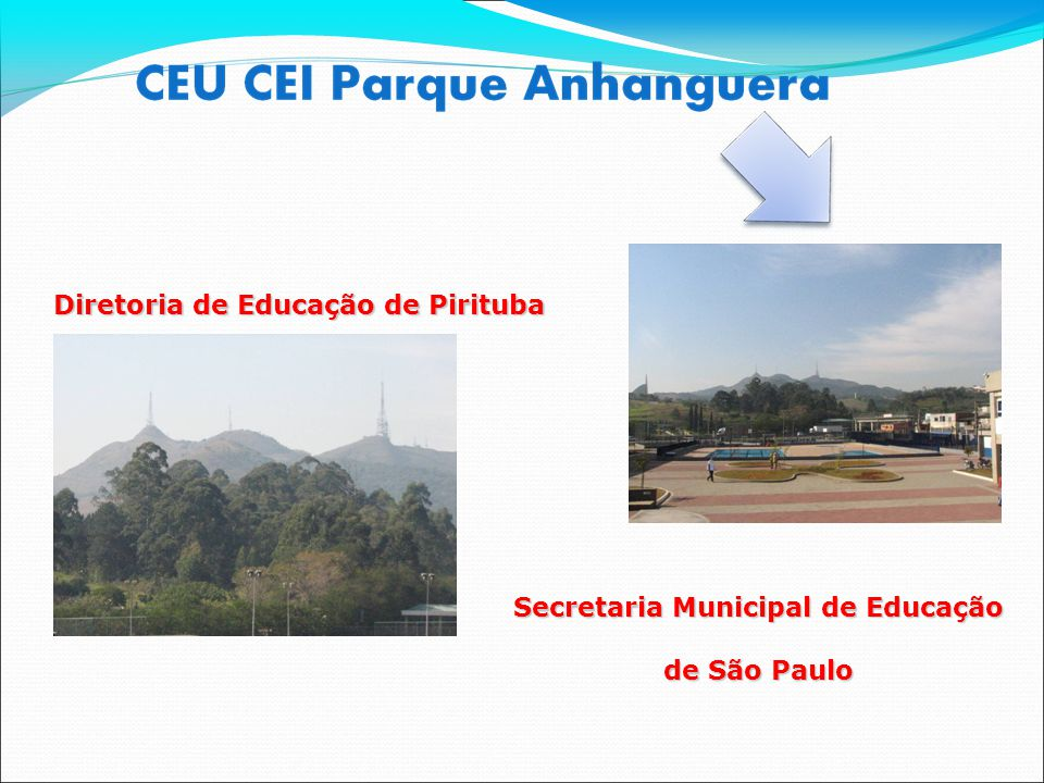 Diretoria de Educação de Pirituba Diretoria de Educação de Pirituba Secretaria Municipal de Educação de São Paulo