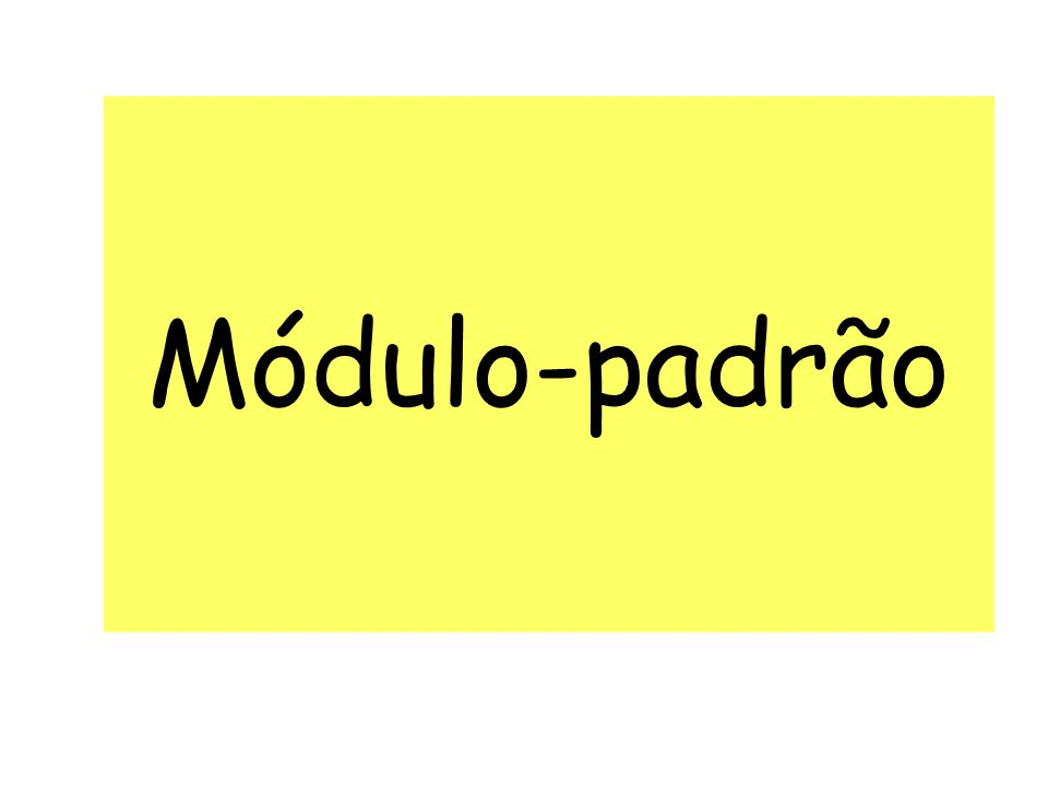 Módulo-padrão