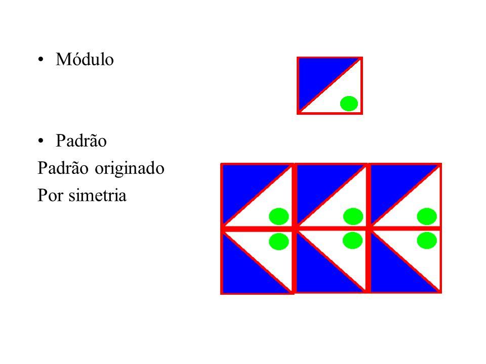 Padrão originado Por alternância, neste caso alteram- -se as cores do módulo Módulo