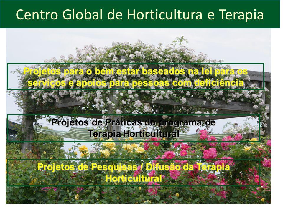Centro Global de Horticultura e Terapia Projetos para o bem estar baseados na lei para os serviços e apoios para pessoas com deficiência Projetos de P
