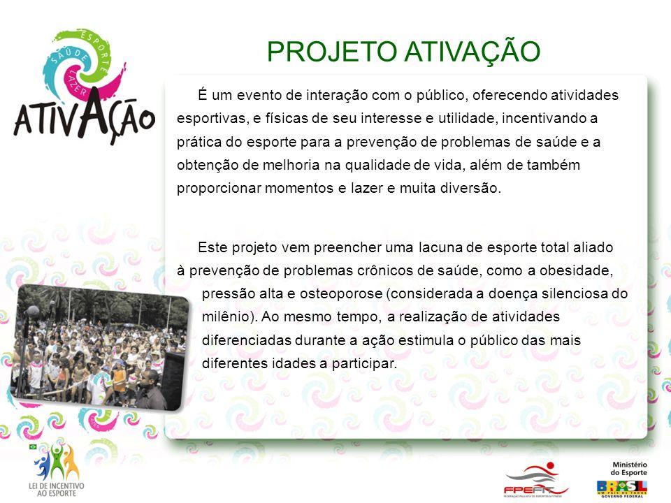 É um evento de interação com o público, oferecendo atividades esportivas, e físicas de seu interesse e utilidade, incentivando a prática do esporte pa