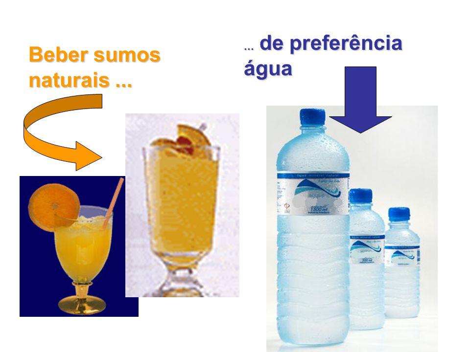 Beber sumos naturais...... de preferência água