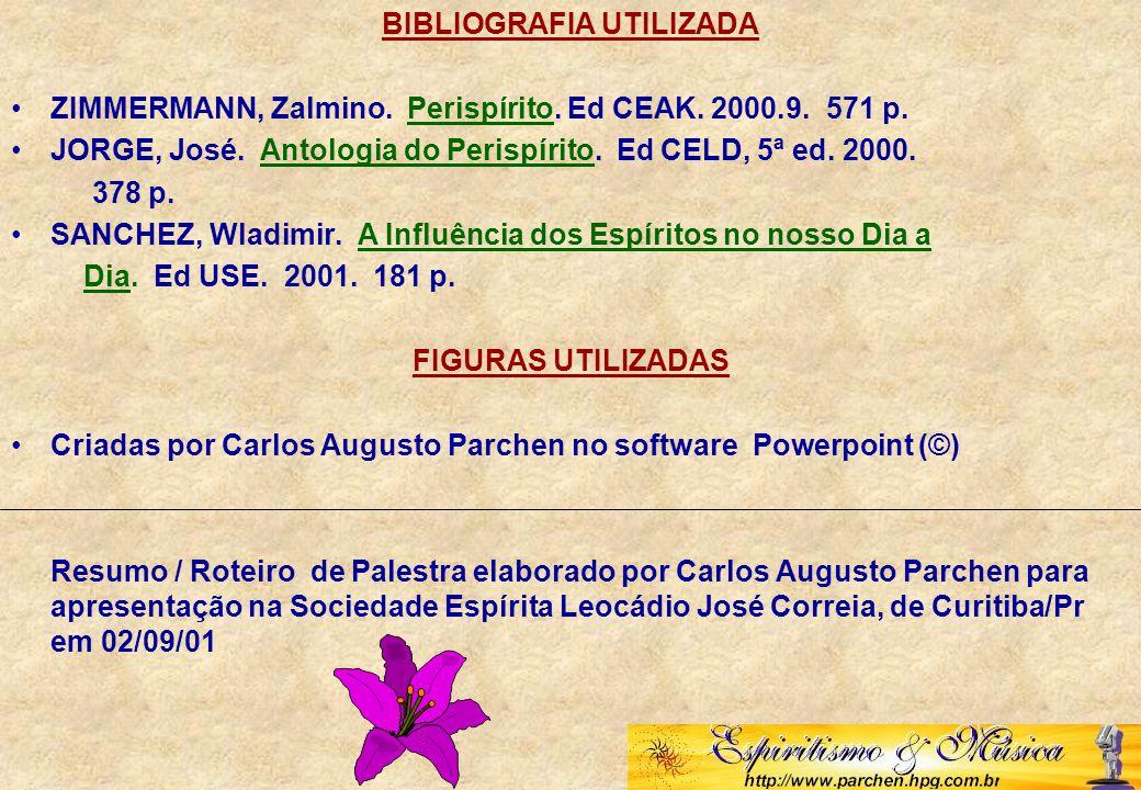 BIBLIOGRAFIA UTILIZADA ZIMMERMANN, Zalmino.Perispírito.