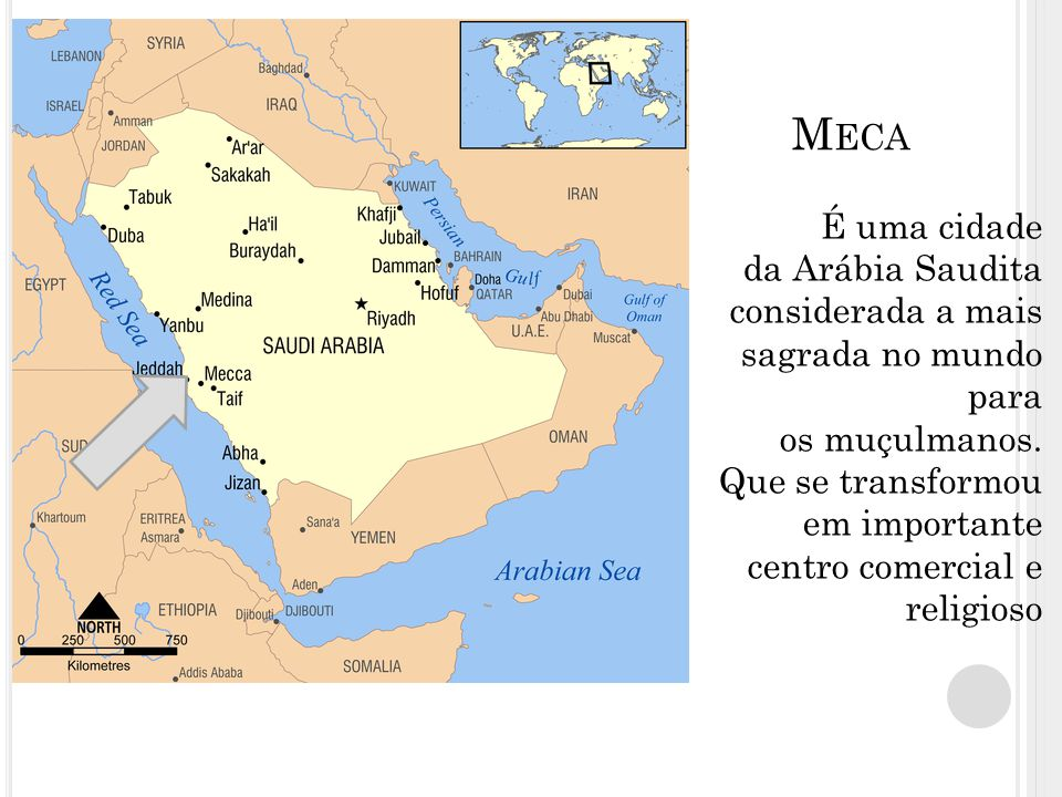 M ECA É uma cidade da Arábia Saudita considerada a mais sagrada no mundo para os muçulmanos. Que se transformou em importante centro comercial e relig