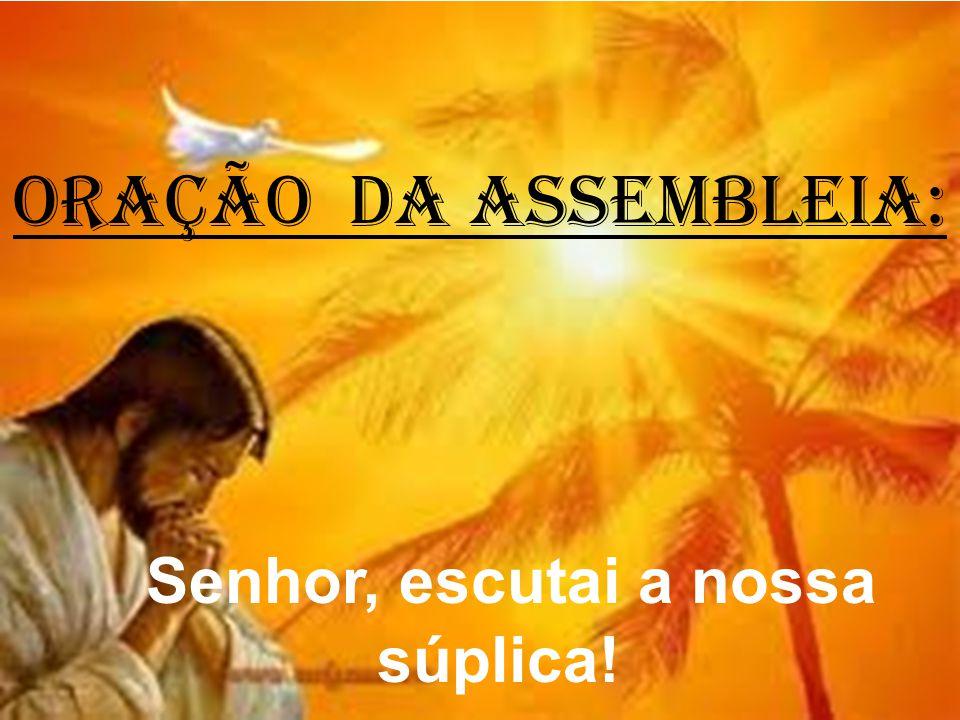 ORAÇÃO DA ASSEMBLEIA: Senhor, escutai a nossa súplica!