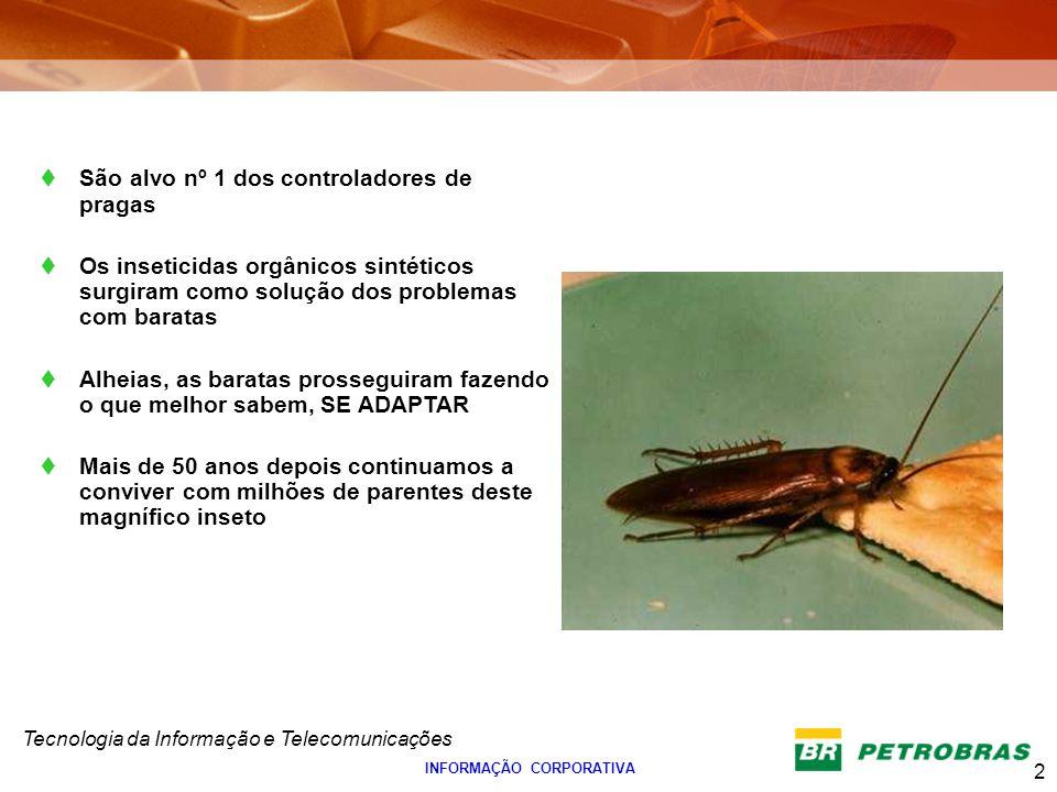 Tecnologia da Informação e Telecomunicações 2 INFORMAÇÃO CORPORATIVA São alvo nº 1 dos controladores de pragas Os inseticidas orgânicos sintéticos sur