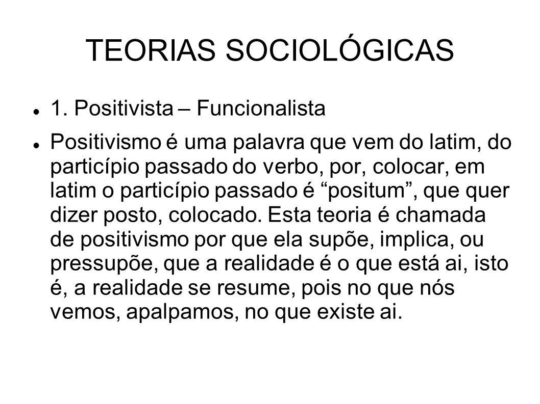 TEORIAS SOCIOLÓGICAS 1.