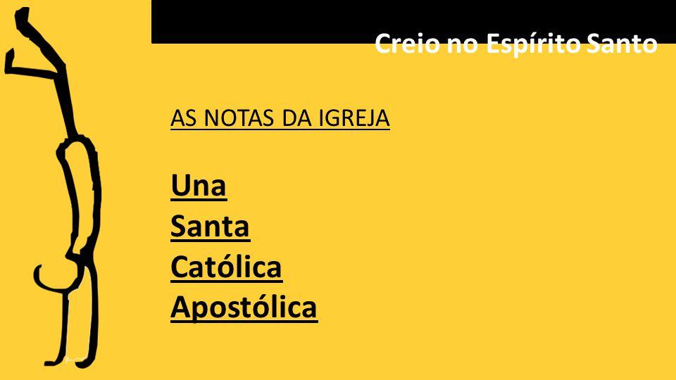 AS NOTAS DA IGREJA Una Santa Católica Apostólica Creio no Espírito Santo