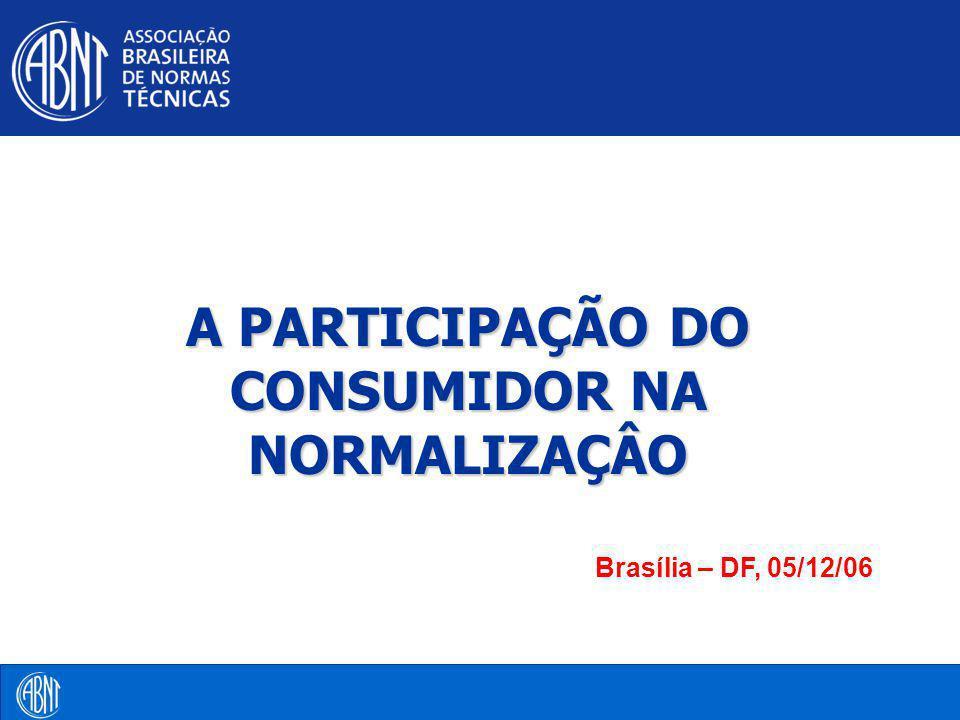ABNT - Associação Brasileira de Normas Técnicas ABNT Entidade privada, sem fins lucrativos, de utilidade pública, fundada em 1940 Único Foro Nacional de Normalização Membro fundador da ISO, da COPANT e da AMN Único representante do Brasil junto aos foros regionais e internacionais de normalização voluntária